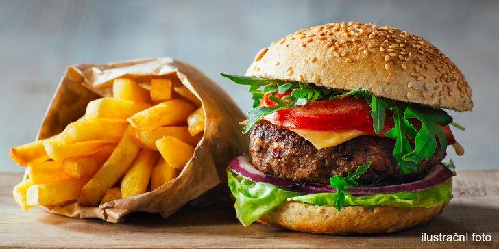 Bezlepkové menu: hráškový krém, Koliba burger a palačinky pro 1 či 2 labužníky