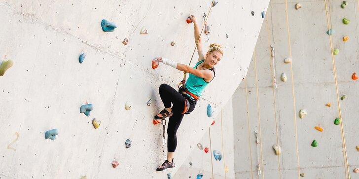 Kurz lezení na stěně s instruktorem vč. zapůjčení vybavení pro 1 či 2 osoby