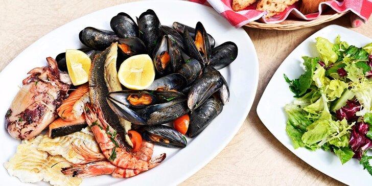 Chutě a vůně Středomoří: Variace ryb a mořských plodů pro 2 osoby