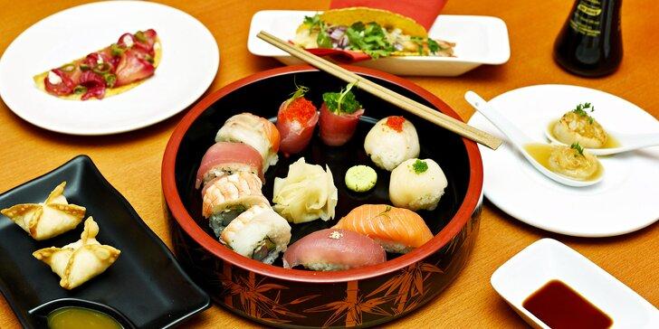 Autentické degustační menu plné asijských chutí ve vyhlášeném sushi baru