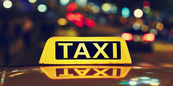 Jízda taxi službou po Pardubicích - 5 nebo 10 km