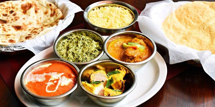 Přehlídka indických pochoutek: Masové degustační menu až pro 4 osoby