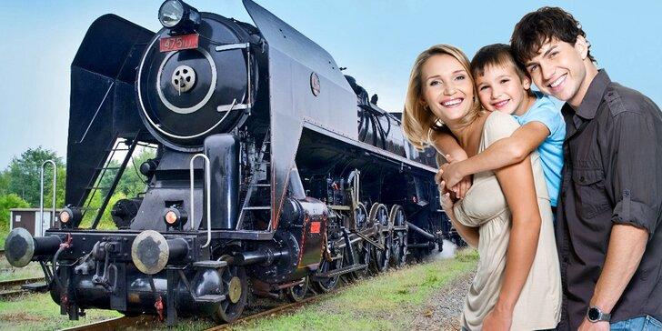 Parním vlakem do říše pohádek: zpáteční jízdenka s divadlem a dětský program