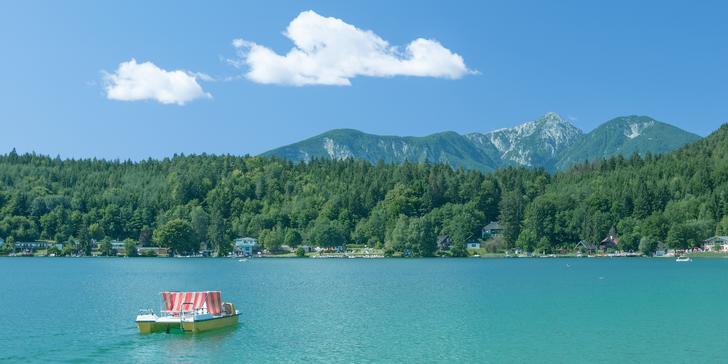 Letní pobyt pro dva s polopenzí u nejteplejšího jezera Klopeinersee až na 6 dní