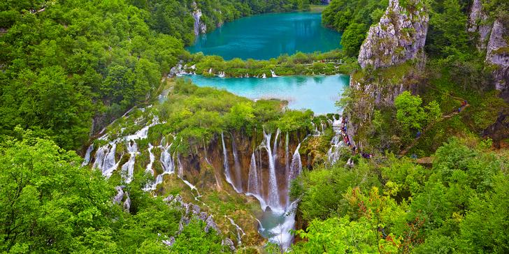 Poznávací zájezd do Chorvatska na Plitvická jezera včetně dopravy a průvodce