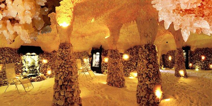 Zdravý relax v solné jeskyni: 45minutový vstup pro dospělého a dítě do 6 let