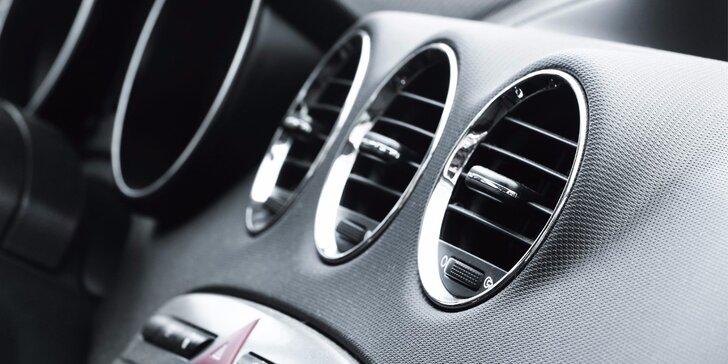 Kontrola, plnění, čištění a dezinfekce klimatizace ve voze