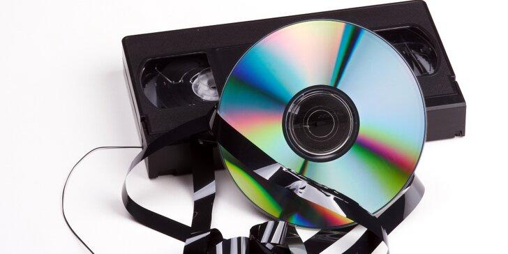 Přepis 120 minut VHS kazety na disk DVD