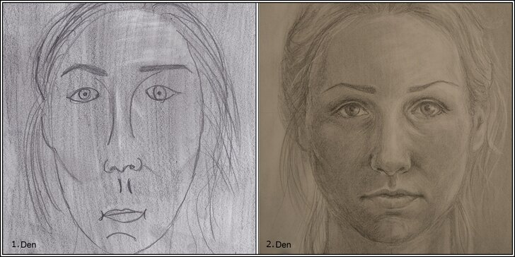 Obrázek osobního úspěchu – reálná kresba a autoportrét