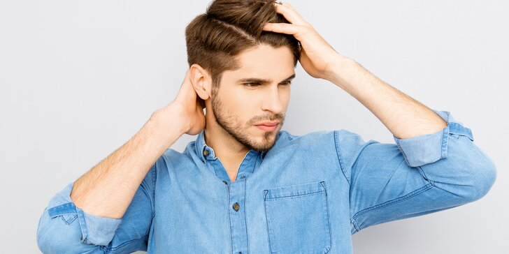 Péče pro muže: precizní sestřih, masáž hlavy a závěrečný styling
