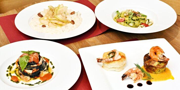 Pod taktovkou italského šéfkuchaře: 4chodové menu dle výběru pro dvě osoby