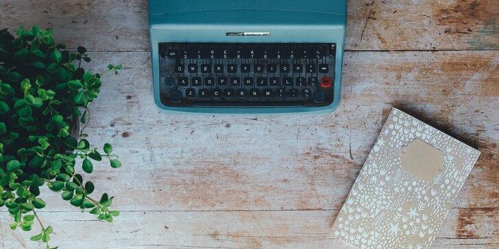 I vy můžete napsat knihu: Online kurz tvůrčího psaní a posouzení vašich textů