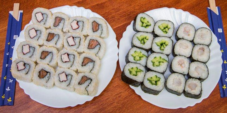 Čerstvé a zdravé sushi s sebou: losos, kreveta a další lahůdky ve 32 kouscích
