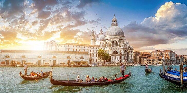 Benátky s průvodcem a odpoledním koupáním u ostrova Lido s odjezdy z Moravy