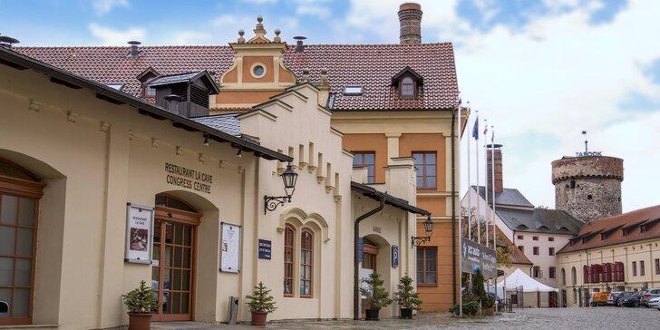 Ubytování v historickém centru Tábora s polopenzí a pivní lázní nebo wellness