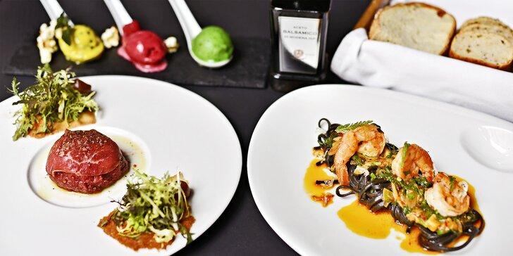 Výjimečný kulinářský zážitek: luxusní 3chodové menu servírované v rukavičkách pro dva