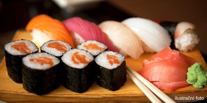 Losos, krab, avokádo i kreveta: 24, 36 nebo 44 kousků sushi k vyzvednutí