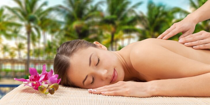 Hodinová dovolená: 60 minut uvolňující Tahiti masáže olejem s květy gardénie