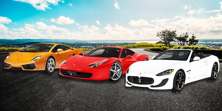 Zážitek na 4 kolech: Projeďte se ve Ferrari, Lamborghini, Maserati nebo Porsche