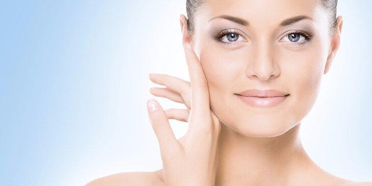 Kosmetické ošetření pro svěží a krásnou pleť s masáží