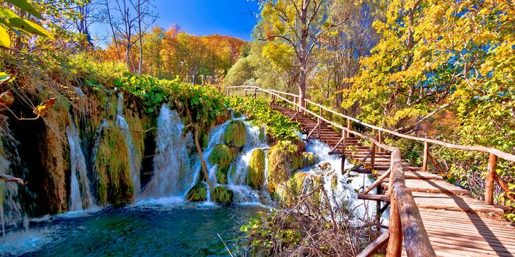 Plitvická jezera, Záhřeb a koupání na Istrii, kde si užijete celý den na pláži