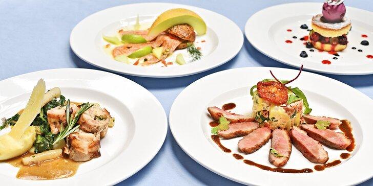4chodové degustační menu pro dva v restauraci U Modré Kachničky