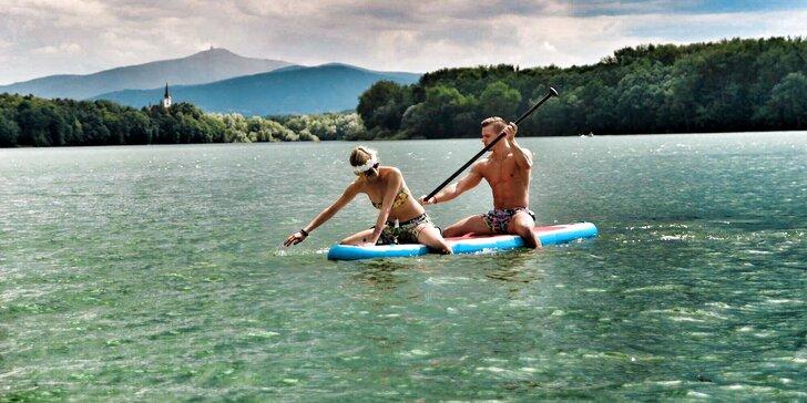 90 minut zábavy: Zapůjčení paddleboardu na Žermanické přehradě