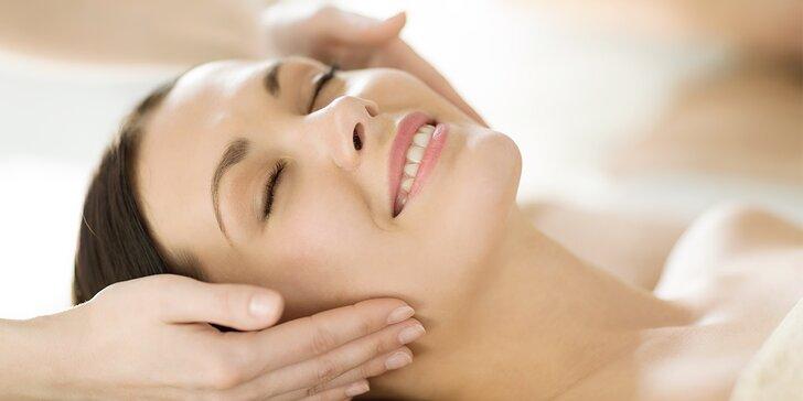 30minutová manuální lymfodrenáž obličeje, krku a dekoltu