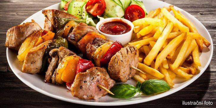 2× menu odlišné chuti: Vepřová jehla a kuřecí prsíčko s přílohou i omáčkami