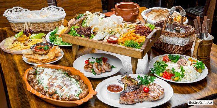 Naplňte břicha celé partě: Raut až pro 8 jedlíků v restaurantu Flora