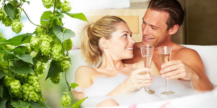 Podzimní romantika: pivní lázeň s možností infrasauny, zábalu a lahve vína
