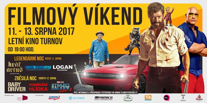 Filmový víkend v Turnově - šest skvělých bijáků pod širým nebem