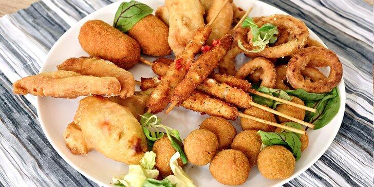 Zobejte plody moře: středomořské chuťovky dle výběru u Hostivařského lesoparku
