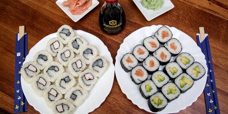 Losos, krevety, sezam a avokádo v hlavní roli: Kacumo set 32 kousků sushi s sebou