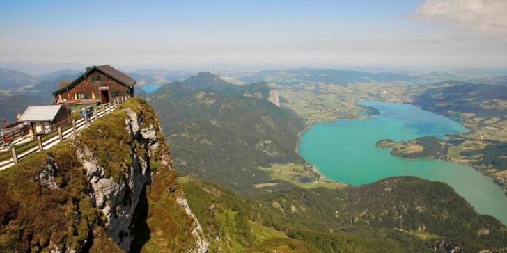 Jízda ozubenou železnicí, hora Schafberg, plavba parníkem po jezeře Wolfgangsee