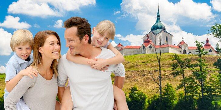 S rodinou na Vysočinu: polopenze, vstup do relaxačního centra a prima výlety