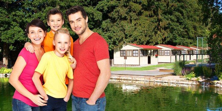 S rodinou do Nemojanského mlýna: Pobyt v chatce, polopenze, víno i jízda na koni