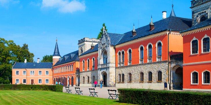 Pohádkový pobyt u zámku Sychrov s návštěvou parku, polopenzí a wellness