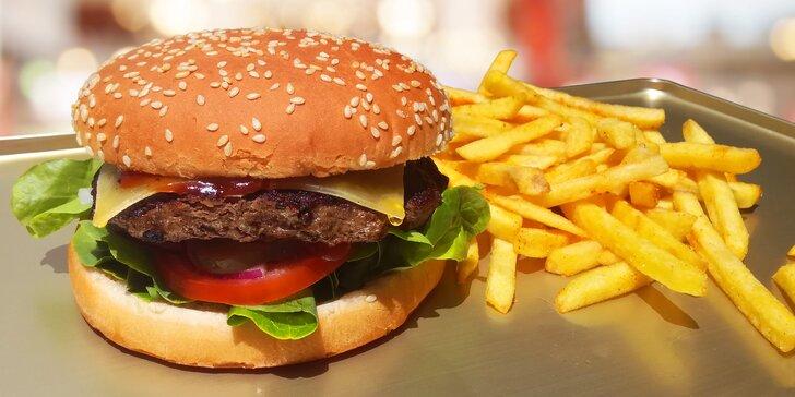 Otevřete ústa: Pořádný burger dle výběru a hranolky s pravým texaským kořením