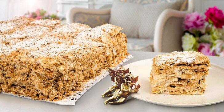 Luxusní vrstvený dort Napoleon vhodný pro každou příležitost