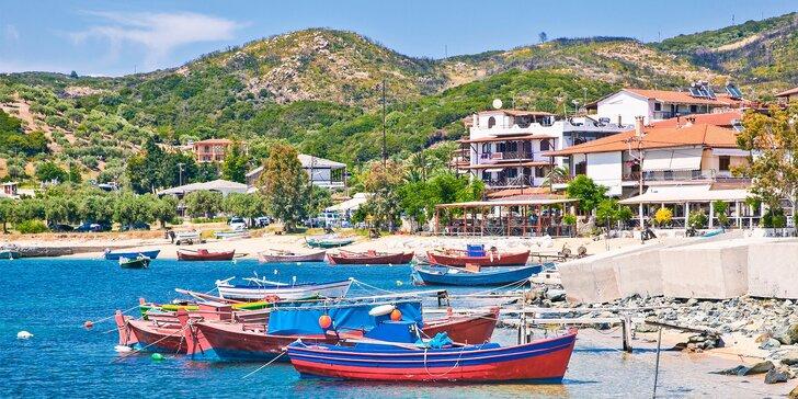 Vzhůru na prosluněnou pláž:7, 8 nebo 10 nocí na Chalkidiki v Řecku včetně dopravy