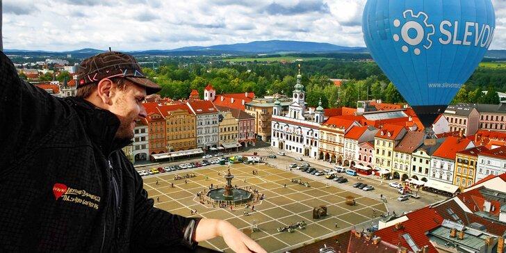 Dotkněte se nebe: let horkovzdušným balónem ve dvou i ve skupince