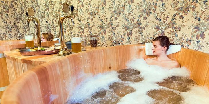 Romantický 2–3denní pobyt s pivní lázní a degustací v rodinném pivovaru