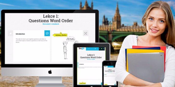 Prémiový on-line kurz angličtiny zakončený certifikátem