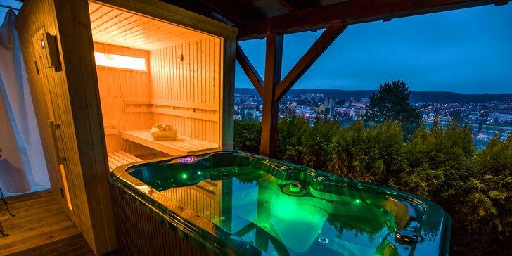 Pobyt v apartmánech s vířivkou a saunou či kinotelevizí nebo v zahradním apartmá