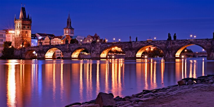 Centrum města a atmosféra staré Prahy: Noc v apartmánech na Starém Městě