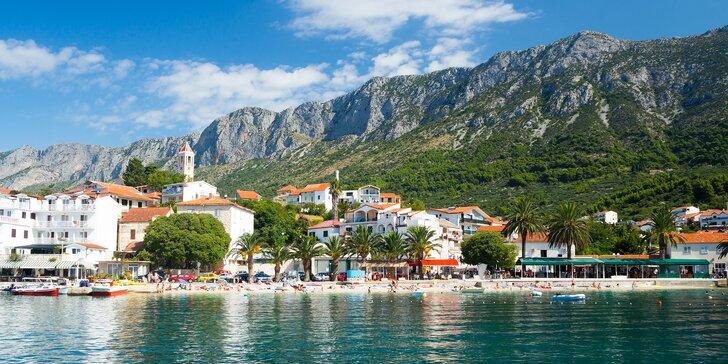 Týden v chorvatském letovisku Gradac - pobyt ve studiu či apartmánu pro 2 osoby