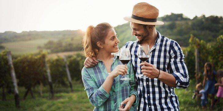 Víkendový pobyt na Slovácku: pohoda mezi vinohrady s lahví vína a dobrotami