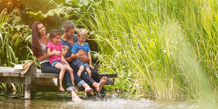 Týden v České Kanadě: Ubytování v chatce u rybníka a polopenze pro rodinu