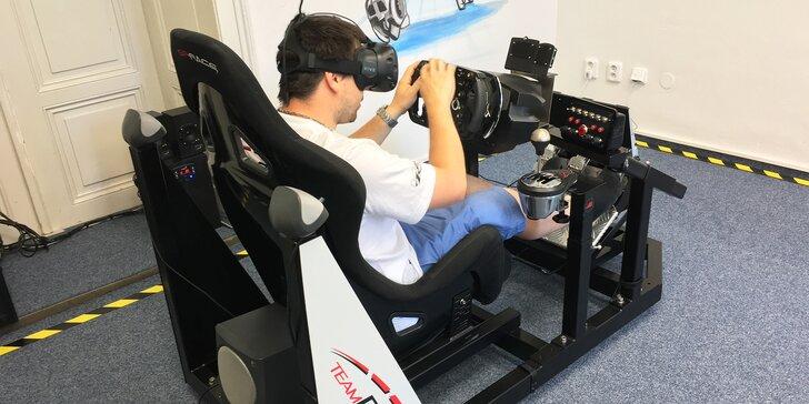 Závodní simulátor ve virtuální realitě - 60 minut